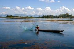 Traditional fishing method of loktak lake manipur