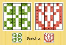 Unique sudoku set Stock Photo