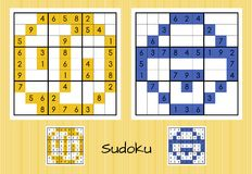 Unique sudoku set Royalty Free Stock Image