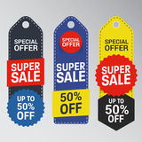 Unique Super Sale Banner Stock Photography