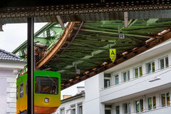 Unique suspension train in Wuppertal, Germany. Stock Images