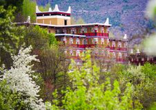 Unique Tibetan Architecture In Spring Stock Photography