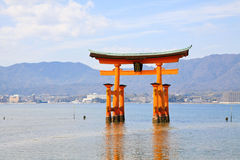 Unique Torii in the sea Stock Photos