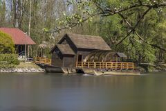 Free Unique Traditional Boat Mill On A River Royalty Free Stock Images - 171149809