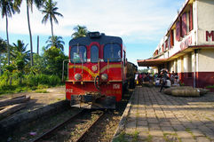 Unique Train of Madagascar at Manakara station.. Royalty Free Stock Photos