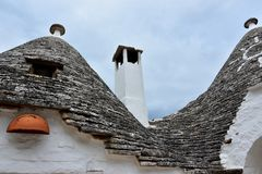 Unique Trulli houses of Alberobello royalty free stock photography