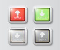 Unique upload and download buttons Royalty Free Stock Photo