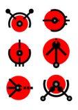 Unique vector logos Royalty Free Stock Image