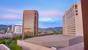Unique view of the city of Boise Idaho Royalty Free Stock Photo