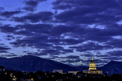 Unique view of the Utah state capital Royalty Free Stock Images