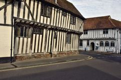 Lavenham UK.Old Houses. This unique village was created some 750 years ago by Henry III when he granted Lavenham `market status` which stimulated the most Stock Images