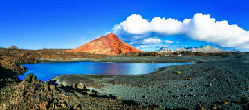 Unique volcanic nature of Lanzarote island Royalty Free Stock Photos