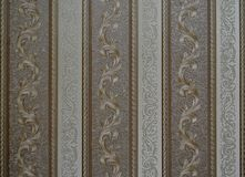 Unique Wallpaper background retro textured vertical stripes and twirls Royalty Free Stock Image