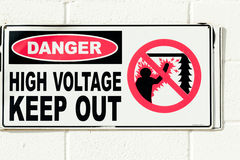 Unique warning sign Stock Images