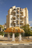 Unique water fountain in Beer Sheba, Israel Royalty Free Stock Photo