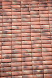 Unique, weathered terracotta roof background Royalty Free Stock Photo