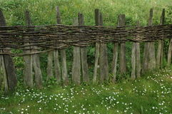 Unique wooden fence Stock Photo