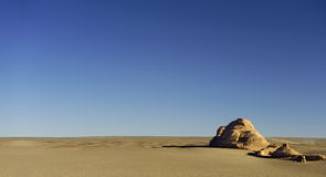 Unique yadan earth surface in the Gobi Desert Stock Photography