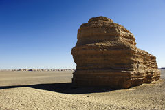 Unique yadan earth surface in the Gobi Desert Royalty Free Stock Photo