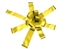 Unique yellow ribbon Stock Images