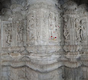 Uniquely carved columns in the mandap Royalty Free Stock Image