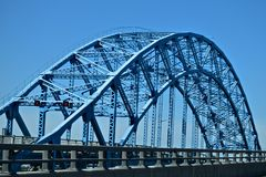 Uniquely designed Blue Bridge in New York Royalty Free Stock Photography