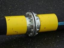 Unire terrestre del tubo di consegna Fotografie Stock Libere da Diritti