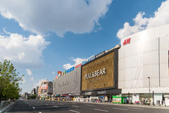 Unirea Mall Shopping Center (Magazinul Unirea) In Bucharest. BUCHAREST, ROMANIA - MAY 15, 2015: Unirea Mall Shopping Center (Magazinul Unirea) opened in 1976 and stock photo