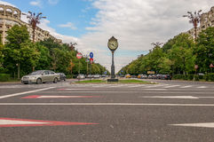 Uniri Boulevard view from Bucharest Royalty Free Stock Image