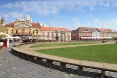 Unirii广场,蒂米什瓦拉 库存照片