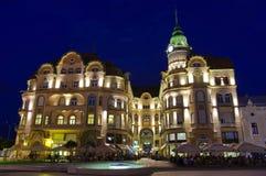 Unirii Square in Oradea - Black Eagle Palace 2 stock photo