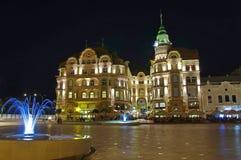 Unirii Square in Oradea - Black Eagle Palace 3 stock photos