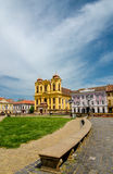 Unirii Square in Timisoara, Romania Royalty Free Stock Images