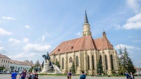 Uniriivierkant in cluj-Napoca stock footage