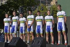 UniSA yrkesmässigt cykla lag Royaltyfria Bilder