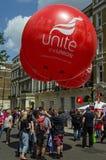 Unisca i palloni del sindacato Fotografia Stock Libera da Diritti