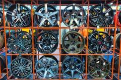 Unisca in lega la ruota di automobile all'Expo internazionale 2015 del motore della Tailandia Immagine Stock Libera da Diritti