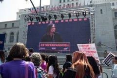 Unisca per la giustizia Rally Los Angeles immagini stock libere da diritti