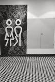 Unisex символ туалета стоковые фотографии rf