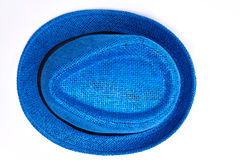 Unisex blue hat, top view. Royalty Free Stock Photos