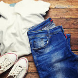 Unisex casual clothes Royalty Free Stock Photos