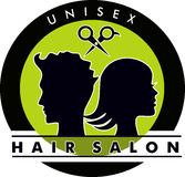 Unisex Hair Salon Logo Royalty Free Stock Image