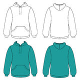 Unisex hoodie (front & back outlined view) Stock Images