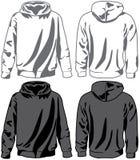 Unisex hoodies. Vector. Unisex hoodies isolated on white. Vector illustration Stock Photography