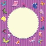 Unisex- kaart voor baby Royalty-vrije Stock Foto's