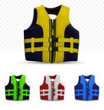 Unisex life vest  on transparent background Royalty Free Stock Photo