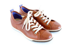Unisex modern style jogging shoes. Isolated unisex modern style jogging shoes Royalty Free Stock Photo