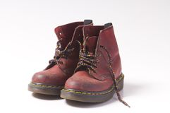 Unisex red boots Royalty Free Stock Images