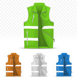 Unisex reflective vest isolated on transparent background Stock Photo