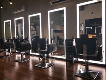 Unisex salon in India. Hair, spa, style, beauty royalty free stock photos
